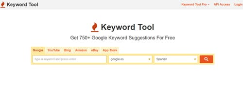 Keyword Tool SEO posicionamiento