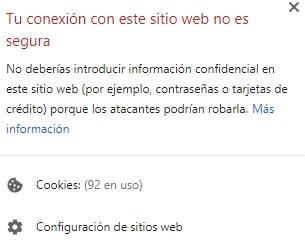 Cartel de aviso de página no segura - Instalar certificado ssl - Nestrategia