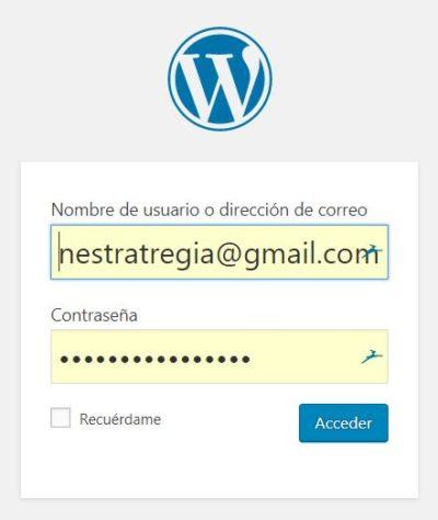 entrar a wordpres con wp-admin