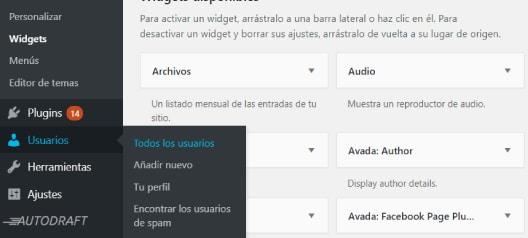 gestión de usuarios y perfiles en wordpress