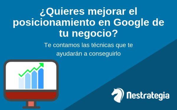 aumentar el posicionamiento web de un negocio en google
