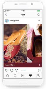 Publicidad de carrusel en Instagram estrategia para ecommerce en Navidad