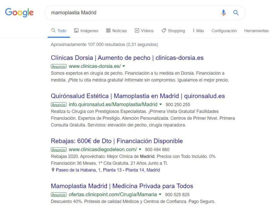 Aparecer entre los primeros resultados de búsqueda en Google