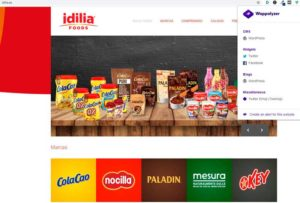 Empresas alimentarias con web WordPress