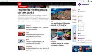 Páginas de noticias maquetadas en WordPress